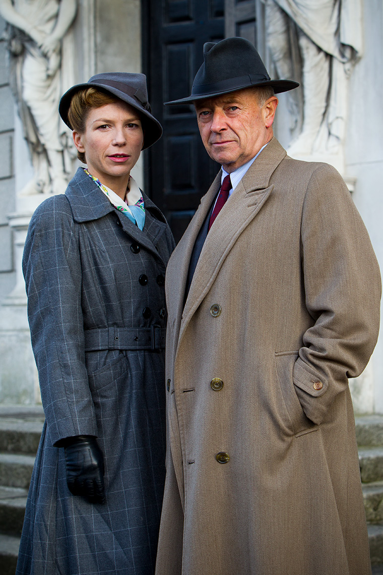 FOYLES WAR 8 Promo shot with Michael Kitchen and Honeysuckle Weeks
