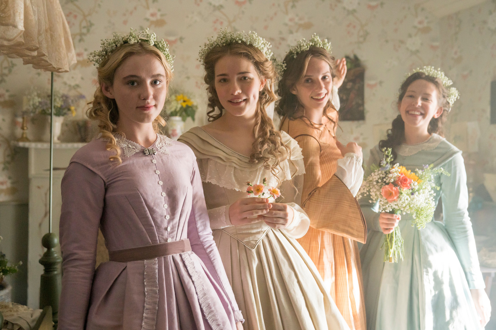 LITTLE WOMEN Kathryn Newton, Willa Fitzgerald, Maya Hawke and Anne Geddes