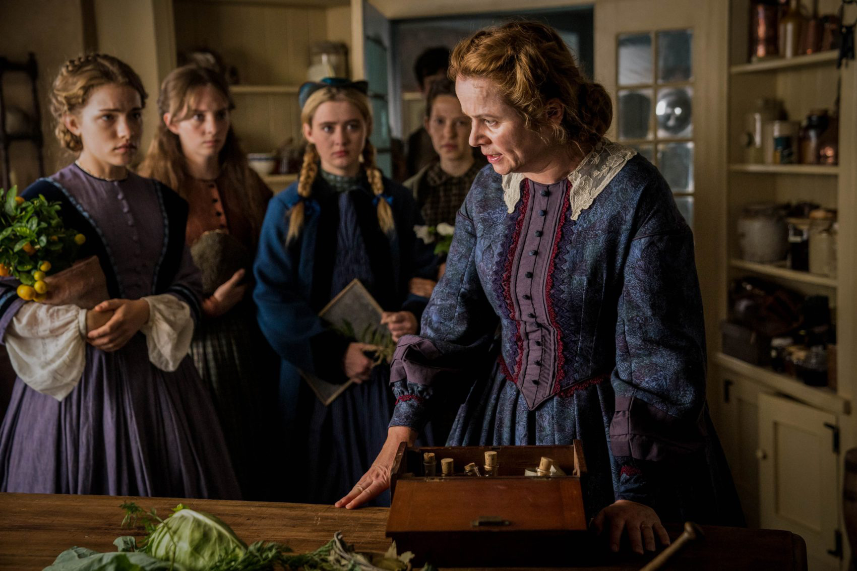LITTLE WOMEN: Willa Fitzgerald, Maya Hawke, Kathryn Newton, Anne Geddes