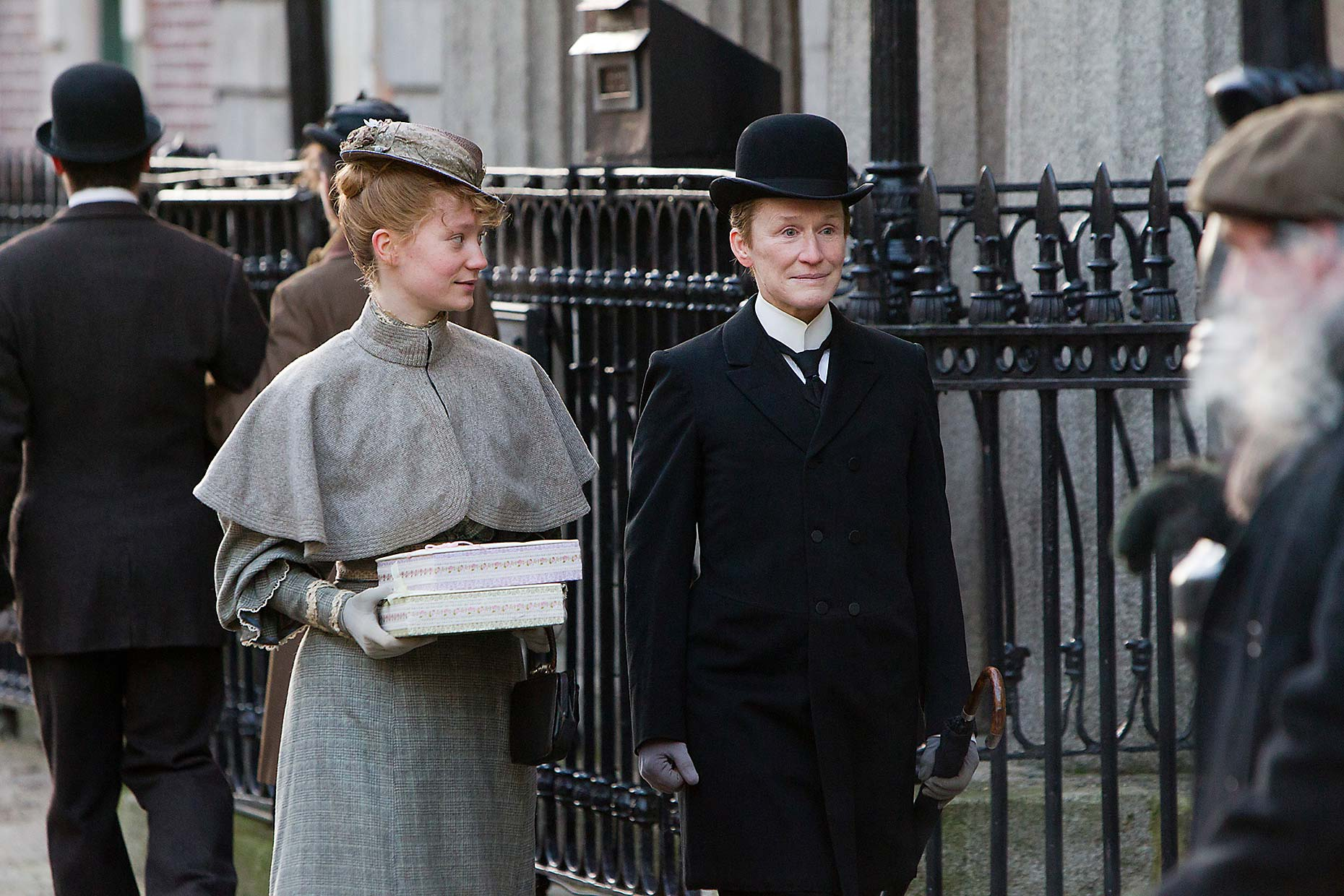 ALBERT NOBBS Mia Wasikowska and Glenn Close (5)